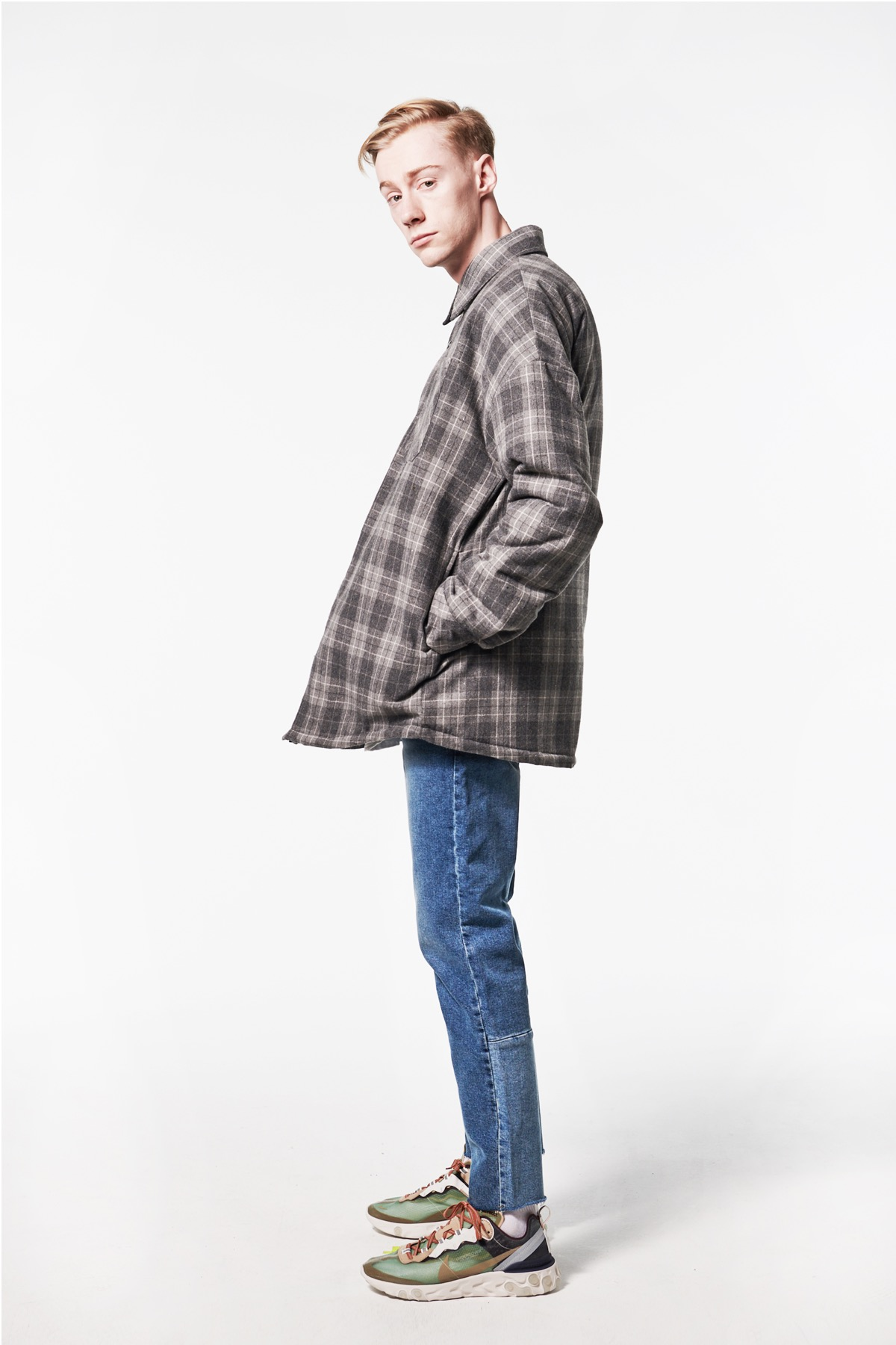 GRAY FLANNEL PADDING SHIRTS
